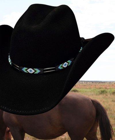 画像1: ブルハイド カウボーイハット シークレットメッセージ(ブラック)/Bullhide Cowboy Hat Secret Message(Black)