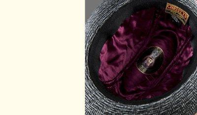 画像2: クリスティーズロンドン ヘリンボーン ウール ハット(チャコール)/Christys' London Wool Hat(Charcoal)