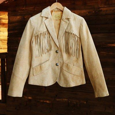 画像1: スカリー レディース フリンジ レザー ジャケット(オールド ラスト)/Scully Fringe Leather Jacket(Women)