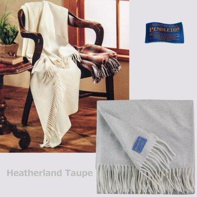 画像1: ペンドルトン メリノウール ショール/Pendleton Merino Throws(Heatherland Taupe)
