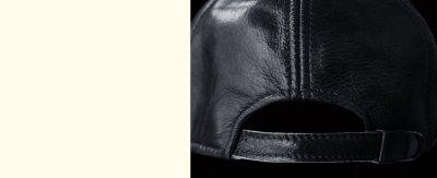 画像2: レザーキャップ(ブラック)/Leather Cap(Black)