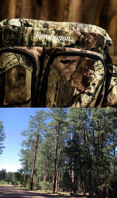 画像1: レミントン 13ポケット モッシーオーク カモ ウエスト バッグ(2ペットボトルポケットつき)/Remington Hip Pack