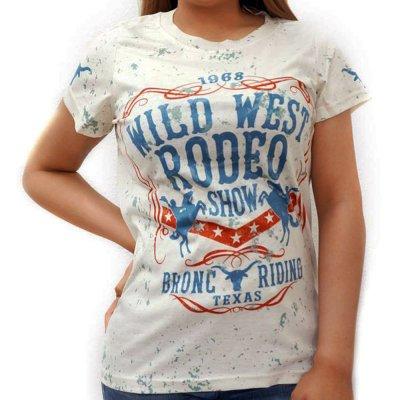画像1: レディース ウエスタン 半袖Tシャツ(ワイルドウエストロデオ)/Wild West Short Sleeve T-shirt(Women's)