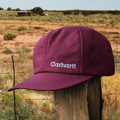 画像1: カーハート ロゴ イヤーフラップ キャップ(ワイン)/Carhartt Cap(Logo/Wine)