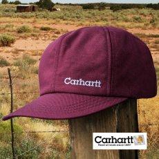 画像1: カーハート ロゴ イヤーフラップ キャップ(ワイン)/Carhartt Cap(Logo/Wine) (1)