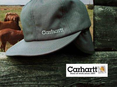 画像3: カーハート ロゴ イヤーフラップ キャップ(ワイン)/Carhartt Cap(Logo/Wine)