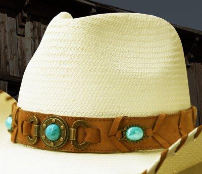 画像2: ブルハイド ウエスタン ストローハット ベストオブザウエスト(ナチュラル・ターコイズ)/Bullhide Western Straw Hat Best of the West(Natural)