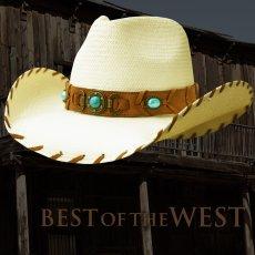 画像1: ブルハイド ウエスタン ストローハット ベストオブザウエスト(ナチュラル・ターコイズ)/Bullhide Western Straw Hat Best of the West(Natural) (1)