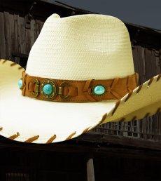 画像3: ブルハイド ウエスタン ストローハット ベストオブザウエスト(ナチュラル・ターコイズ)/Bullhide Western Straw Hat Best of the West(Natural) (3)