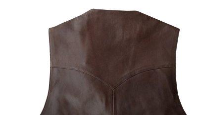 画像3: スカリー ウエスタン レザー ベスト(チョコレートブラウン)/Scully Western Lamb Leather Vest(Chocolate)