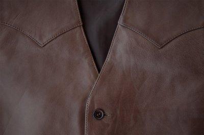画像2: スカリー ウエスタン レザー ベスト(チョコレートブラウン)/Scully Western Lamb Leather Vest(Chocolate)