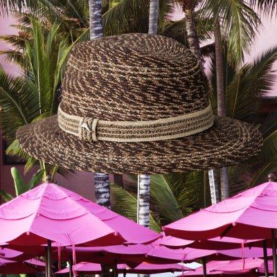 画像2: トミーバハマ  リゾートハット(ブラウン)ハットサイズ調整テープつき/Tommy Bahama Straw Hat(Brown)