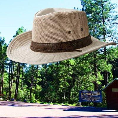 画像1: ペンドルトン メッシュクラウン シェイパブルブリム ハイカー ハット(パテ)M/Pendleton Shapable Hiker Hat(Putty)