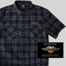 画像1: ハーレーダビッドソン 半袖シャツ(ブラック)/Harley Davidson Shortsleeve Shirt(Black) (1)