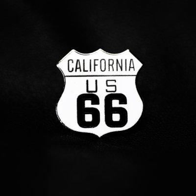 画像1: ルート66 ピンバッジ カリフォルニア/Pin California US Route 66
