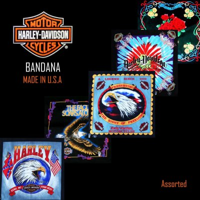 画像1: ハーレーダビッドソン バンダナ(5枚アソート)/Harley Davidson Bandanas