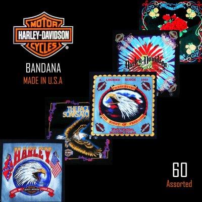 画像1: ハーレーダビッドソン バンダナ(60枚)/Harley Davidson Bandanas