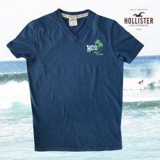 画像1: ホリスター 刺繍入り 半袖 Tシャツ パームツリー・ネイビーM/Hollister Short Sleeve T-Shirt HCO LEGEND OF THE BEACH (1)