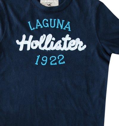 画像2: ホリスター ラグナビーチ アップリケロゴ&刺繍 半袖 Tシャツ ネイビー/Hollister Laguna Beach Short Sleeve T-Shirt (Navy)
