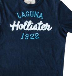 画像2: ホリスター ラグナビーチ アップリケロゴ&刺繍 半袖 Tシャツ ネイビー/Hollister Laguna Beach Short Sleeve T-Shirt (Navy) (2)