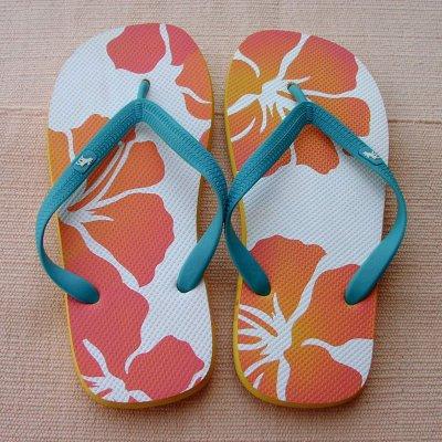 画像1: アバクロンビー&フィッチ ビーチサンダル フラワープリント(メンズ)/Abercrombie&Fitch Flip Flop Flower Print(Mens)