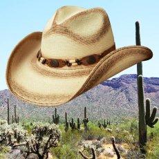 画像2: ウエスタン ストローハット(ナチュラル・パーム)/Western Straw Hat (2)