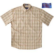 画像2: ペンドルトン 半袖 シャツ(タン/ブルー)/Pendleton Plaid Shortsleeve Shirt(Tan) (2)