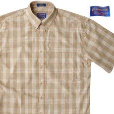 画像1: ペンドルトン 半袖 シャツ(タン/ブルー)/Pendleton Plaid Shortsleeve Shirt(Tan) (1)