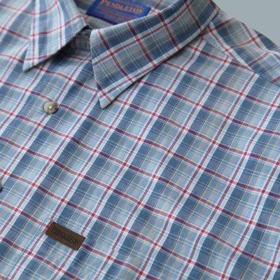 画像3: ペンドルトン 半袖 シャツ(ブループラッド)/Pendleton Plaid Shortsleeve Shirt(Blue)