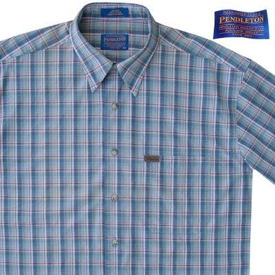 画像2: ペンドルトン 半袖 シャツ(ブループラッド)/Pendleton Plaid Shortsleeve Shirt(Blue)