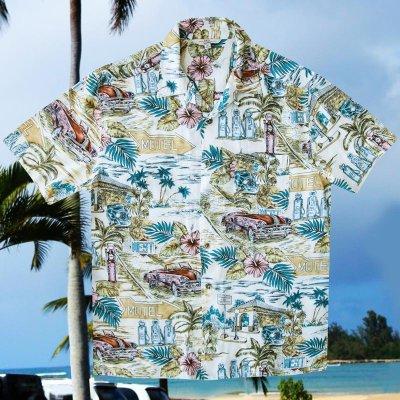 画像1: バケーション ハワイアン シャツ(ナチュラル)M/Short Sleeve Hawaiian Shirt(Natural)