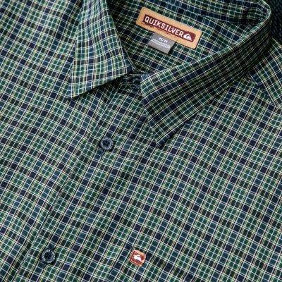 画像3: クイックシルバー 半袖 シャツ(グリーン・ブルー)/Quiksilver Tencel Plaid Shortsleeve Shirt(Green/Blue)