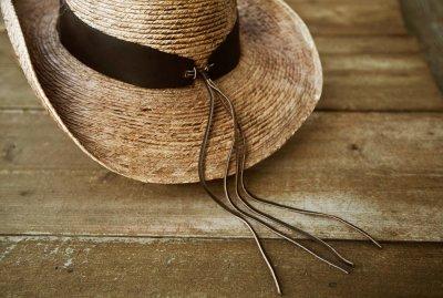 画像3: 馬毛革&牛革 カウボーイ ストローハット(パームファイバー)/Western Straw Hat