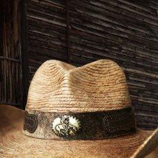 画像3: 馬毛革&牛革 カウボーイ ストローハット(パームファイバー)/Western Straw Hat (3)