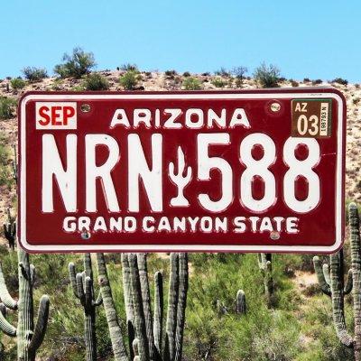 画像1: アメリカ アリゾナ州 ナンバープレート・グランドキャニオンステイト ライセンスプレート/ARIZONA GRAND CANYON STATE License Plate