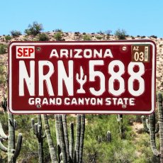 画像1: アメリカ アリゾナ州 ナンバープレート・グランドキャニオンステイト ライセンスプレート/ARIZONA GRAND CANYON STATE License Plate (1)