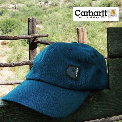 画像1: カーハート キャップ(ブルー)/Carhartt Cap(C Label/Blue)