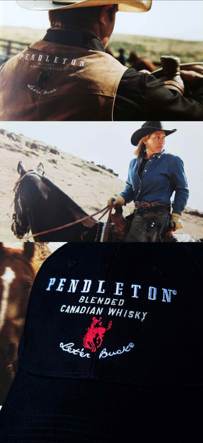 画像2: ペンドルトン ロデオ キャップ(ブラック)/Pendleton Round Up Whisky Cap(Black)