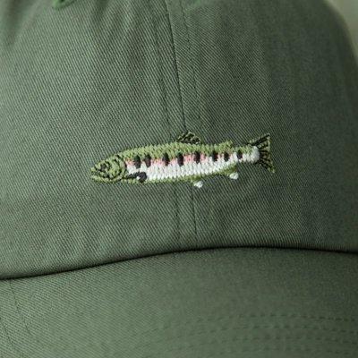 画像2: コロンビアスポーツウェア 刺繍 キャップ(レインボートラウト/グラス)/Columbia Sportswear Cap(Grass/Rainbow Trout)