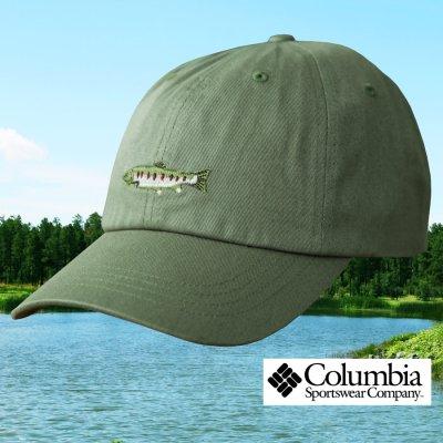 画像1: コロンビアスポーツウェア 刺繍 キャップ(レインボートラウト/グラス)/Columbia Sportswear Cap(Grass/Rainbow Trout)