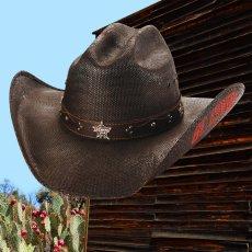 画像1: PBR プロフェッショナル ブルライダース BE COWBOY ストロー カウボーイ ハット(チョコレートブラウン)/PBR Cowboy Hat(Chocolate) (1)