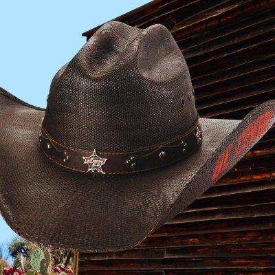 画像1: PBR プロフェッショナル ブルライダース BE COWBOY ストロー カウボーイ ハット(チョコレートブラウン)/PBR Cowboy Hat(Chocolate)