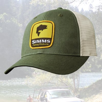 画像1: シムス ロゴパッチ メッシュ キャップ (フォレスト)/Simms Cap(Forest)
