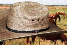 画像2: ジャスティン パームストロー カウボーイハット(ナチュラル)/Justin Western Straw Hat (2)