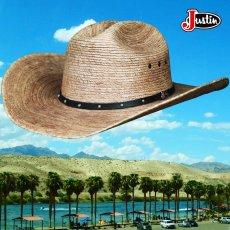 画像3: ジャスティン パームストロー カウボーイハット(ナチュラル)/Justin Western Straw Hat (3)