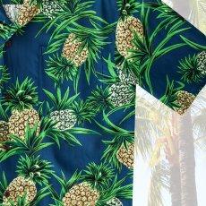 画像3: レーヨン アロハシャツ パイナップル(ネイビー)/Aloha Shirt (3)
