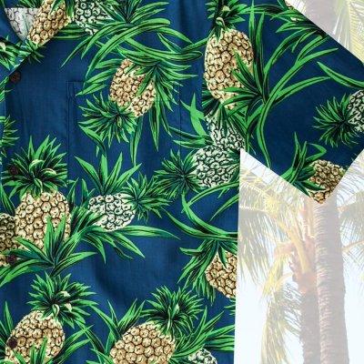 画像3: レーヨン アロハシャツ パイナップル(ネイビー)/Aloha Shirt