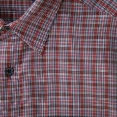 画像2: クイックシルバー 半袖 シャツ(バーガンディー・ブルー・ホワイト)/Quiksilver Tencel Plaid Shortsleeve Shirt(Burgundy/Blue/White) (2)