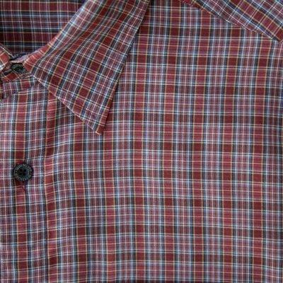 画像2: クイックシルバー 半袖 シャツ(バーガンディー・ブルー・ホワイト)/Quiksilver Tencel Plaid Shortsleeve Shirt(Burgundy/Blue/White)