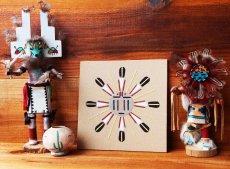 画像2: アメリカインディアン ナバホ族 サンドペイント 砂絵/Navajo Sandpainting (2)